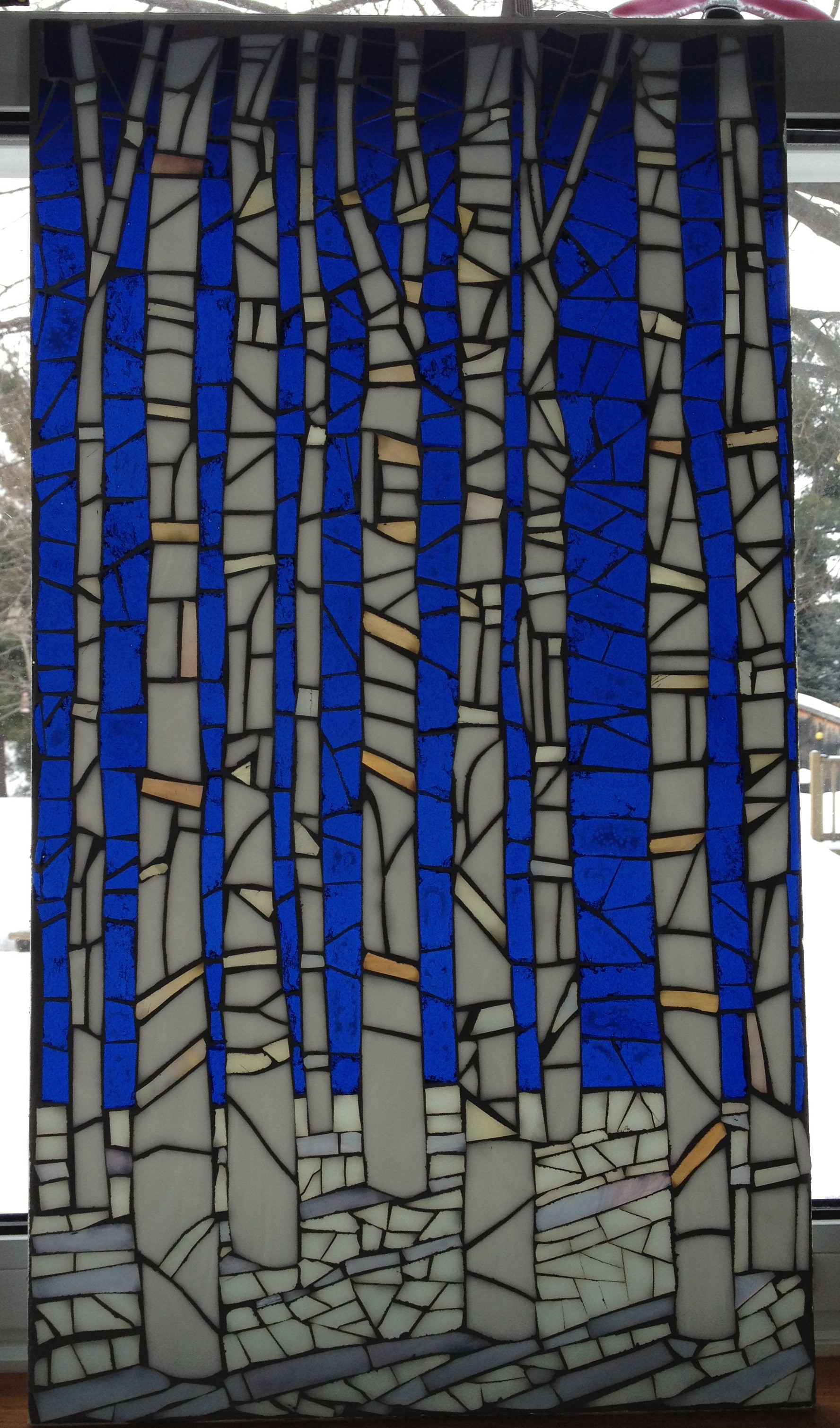 Glass on Glass Birch Trees